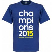 Chelsea T-shirt Champions 2015 Blå S