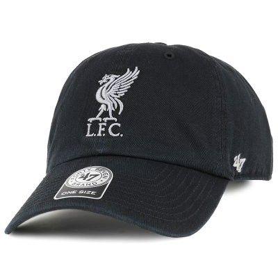 Keps Liverpool FC Liverbird Clean Up Black Adjustable - 47 Brand
