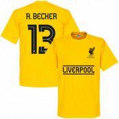 Liverpool T-shirt Becker 13 Team Barn Gul 2 år