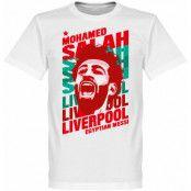 Liverpool T-shirt Salah Portrait Barn Mohamed Salah Vit 2 år