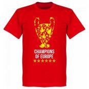 Liverpool T-shirt Trophy Champions of Europe Barn Röd 2