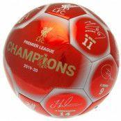 Liverpool Fotboll Premier League Champions Signature