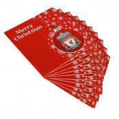 Liverpool Julkort Snöflinga 10-pack