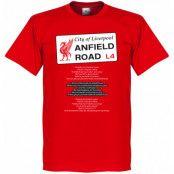 Liverpool T-shirt Anfield Road Red Röd XS