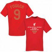 Liverpool T-shirt Fowler No9 Kopite Röd XS