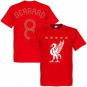 Liverpool T-shirt Gerrard Euro Red Steven Gerrard Röd XS