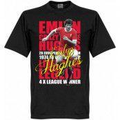 Liverpool T-shirt Legend Emlyn Hughes Legend Svart XS