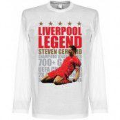 Liverpool T-shirt Legend Gerrard Legend Long Sleeve Steven Gerrard Vit S