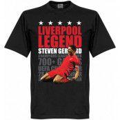 Liverpool T-shirt Legend Legend Steven Gerrard Svart XS