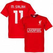 Liverpool T-shirt Salah 11 Team Mohamed Salah Röd XS