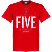 Liverpool T-shirt The Miracle of Istanbul Steven Gerrard Röd XS