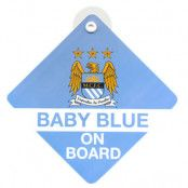 Manchester City skylt Baby On Board