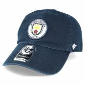 Keps Manchester City Clean Up Navy Adjustable - 47 Brand - Blå Reglerbar
