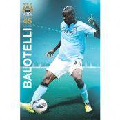 Manchester City Affisch Balotelli 84