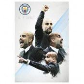 Manchester City Affisch Guardiola 30