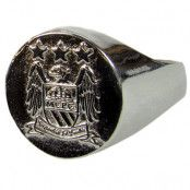Manchester City Ring Silverplaterad M