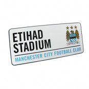 Manchester City Vägskylt Etihad