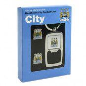 Manchester City manschettknappar och nyckelring med öppnare