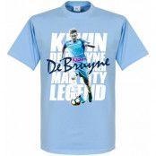 Manchester City T-shirt Kevin De Bruyne Legend Ljusblå M