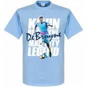 Manchester City T-shirt Kevin De Bruyne Legend Ljusblå XS