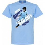 Manchester City T-shirt Silva Man Legend Ljusblå XS