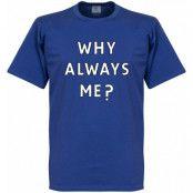 Manchester City T-shirt Why Always Me Royal Mario Balotelli Blå M