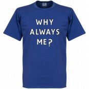 Manchester City T-shirt Why Always Me Royal Mario Balotelli Blå S