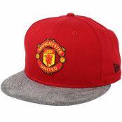 Keps Manchester United Suede Vize 9Fifty Red/Grey Snapback - New Era - Röd Snapback