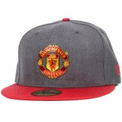 Keps Manchester United Ballistic Graphite/Scarlet 59Fifty - New Era - Grå Fitted
