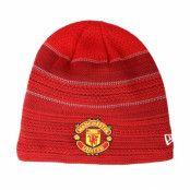 Mössa Manchester United Engineered Skull Knit Red Beanie - New Era