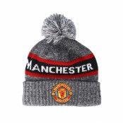 Mössa Manchester United Marl Jake Knit Grey Pom - New Era - Grå Tofs