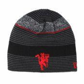 Mössa Manchester United Reversible Marl Knit Grey/Red Beanie - New Era - Grå Traditionella