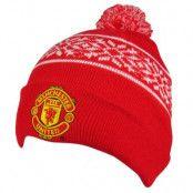 Manchester United Mössa Ski Mönster röd