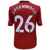 Manchester United Greenwood Signerad Tröja