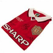 Manchester United Signerad Fotbollströja Champions League Final 1999