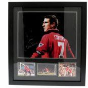 Manchester United Signerad Tavla Eric Cantona