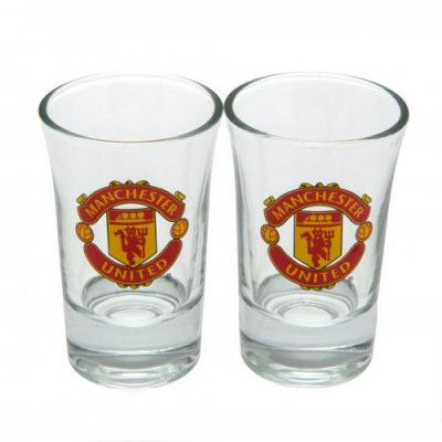 Manchester United Snapsglas 2-pack