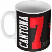 Manchester United Mugg 7 Silhouette Eric Cantona Svart-Röd