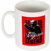 Manchester United Mugg Alex Ferguson Legend Vit