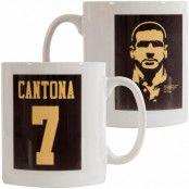 Manchester United Mugg Cantona 7 Silhouette Eric Cantona Svart