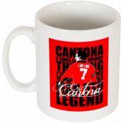 Manchester United Mugg Cantona Legend Eric Cantona Vit