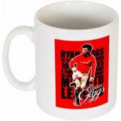 Manchester United Mugg Giggs Legend Ryan Giggs Vit