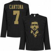 Manchester United Långärmad T-shirt Cantona 7 Silhouette Svart/Guld S