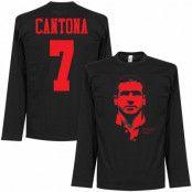 Manchester United Långärmad T-shirt Cantona Silhouette Svart S