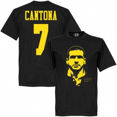 Manchester United T-shirt Cantona Silhouette Eric Cantona Svart XXL