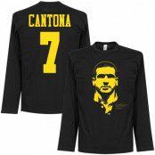 Manchester United T-shirt Cantona Silhouette Long Sleeve Eric Cantona Svart S