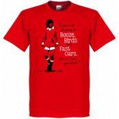 Manchester United T-shirt George Best Röd XS