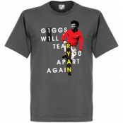 Manchester United T-shirt Giggs Will Tear You Apart Ryan Giggs Mörkgrå S