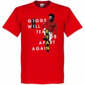 Manchester United T-shirt Giggs Will Tear You Apart Ryan Giggs Röd XS