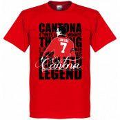 Manchester United T-shirt Legend Legend Eric Cantona Röd XS